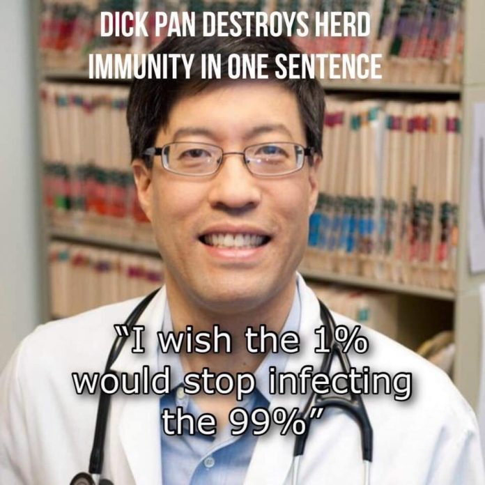Dick Pan Stupid Herd Immunity Comment